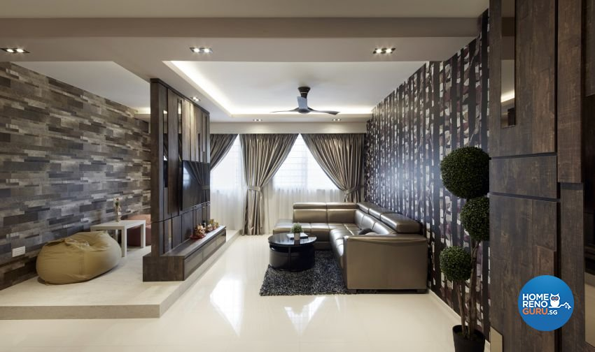 Modern, Resort, Tropical Design - Living Room - HDB 5 Room - Design by I-chapter Pte Ltd