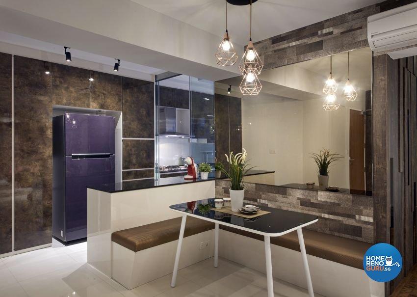 Modern, Resort, Tropical Design - Dining Room - HDB 5 Room - Design by I-chapter Pte Ltd