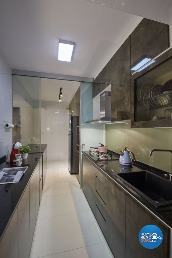 Modern, Resort, Tropical Design - Kitchen - HDB 5 Room - Design by I-chapter Pte Ltd
