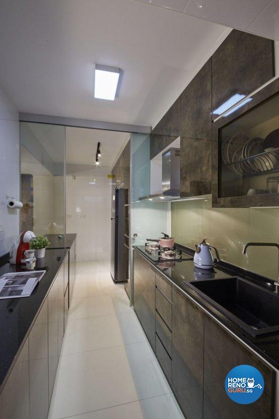 Modern, Resort, Tropical Design - Kitchen - HDB 5 Room - Design by I-chapter Pte Ltd