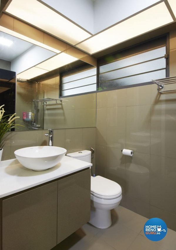 Modern, Resort, Tropical Design - Bathroom - HDB 5 Room - Design by I-chapter Pte Ltd