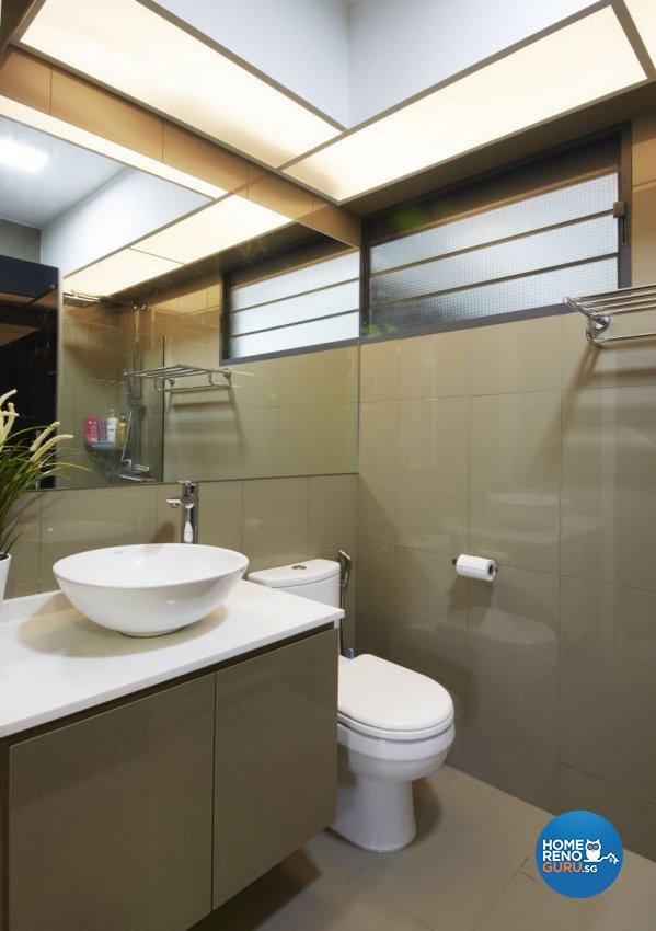 Modern, Resort, Tropical Design - Bathroom - HDB 5 Room - Design by I-chapter Pte Ltd