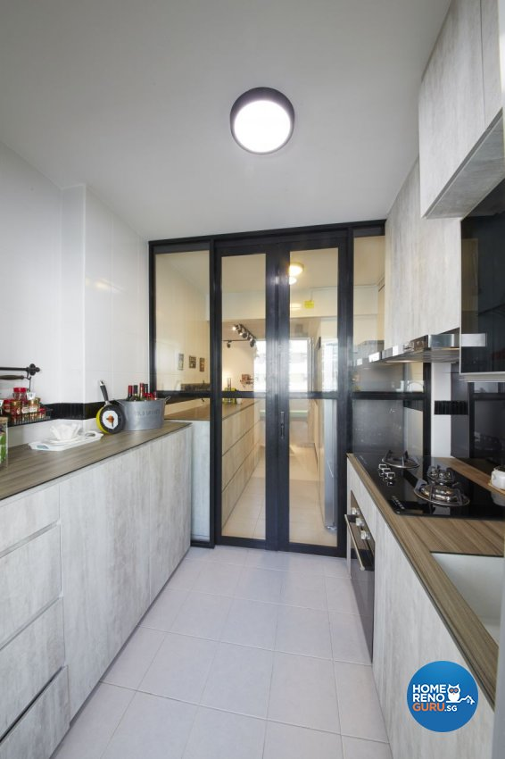 Industrial, Scandinavian Design - Kitchen - HDB 5 Room - Design by I-chapter Pte Ltd