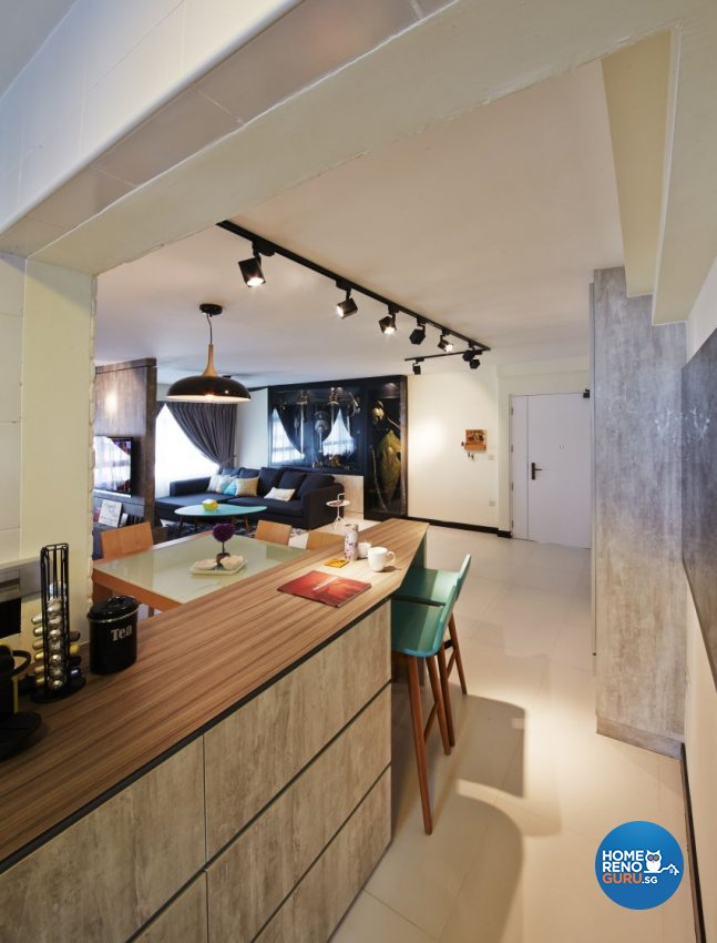 Industrial, Scandinavian Design - Dining Room - HDB 5 Room - Design by I-chapter Pte Ltd
