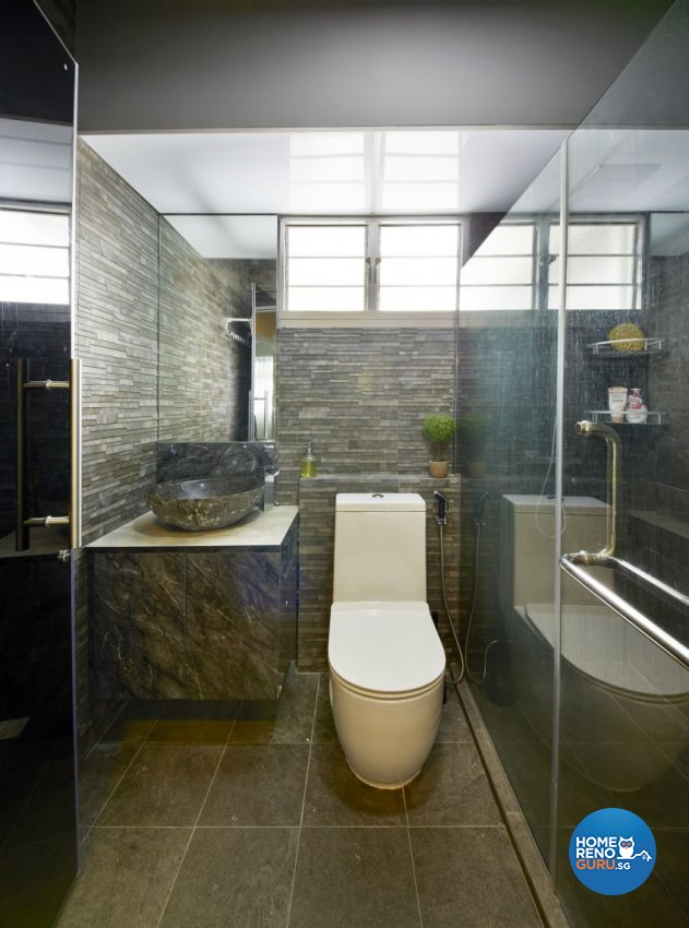 Industrial, Scandinavian Design - Bathroom - HDB 5 Room - Design by I-chapter Pte Ltd