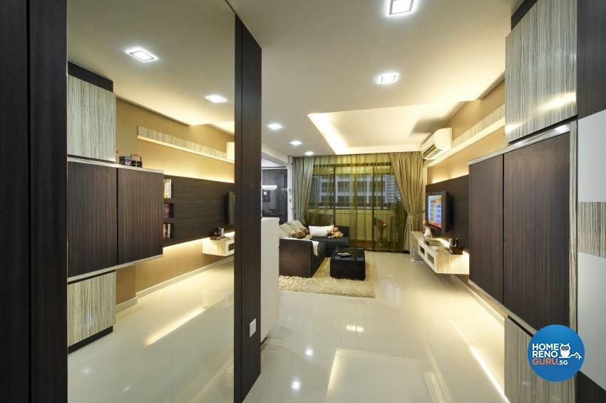 Contemporary, Modern Design - Living Room - HDB 5 Room - Design by I-chapter Pte Ltd