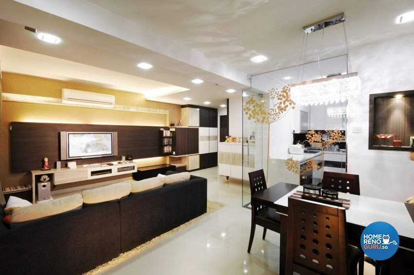 Contemporary, Modern Design - Dining Room - HDB 5 Room - Design by I-chapter Pte Ltd
