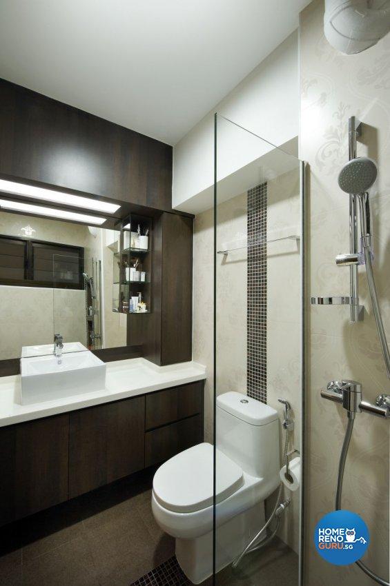 Contemporary, Modern Design - Bathroom - HDB 5 Room - Design by I-chapter Pte Ltd