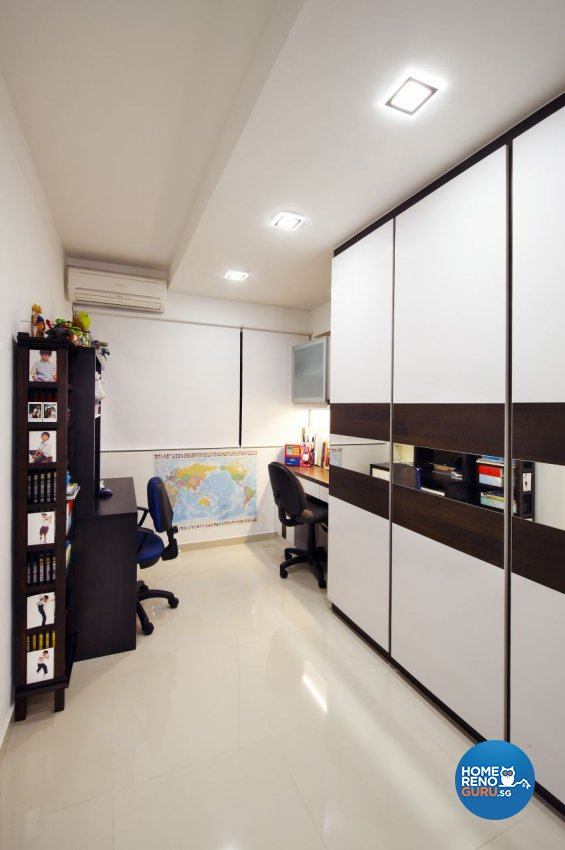 Contemporary, Modern Design - Study Room - HDB 5 Room - Design by I-chapter Pte Ltd
