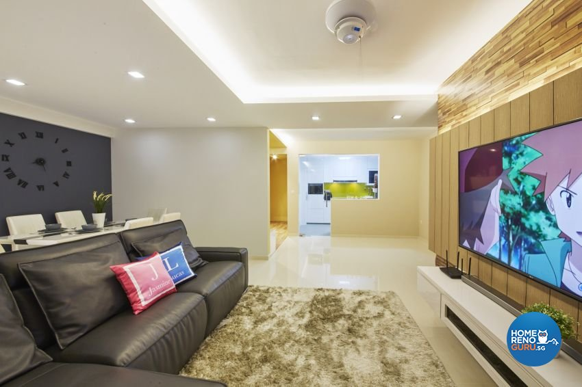 Contemporary, Modern Design - Living Room - HDB 5 Room - Design by I-chapter Pte Ltd