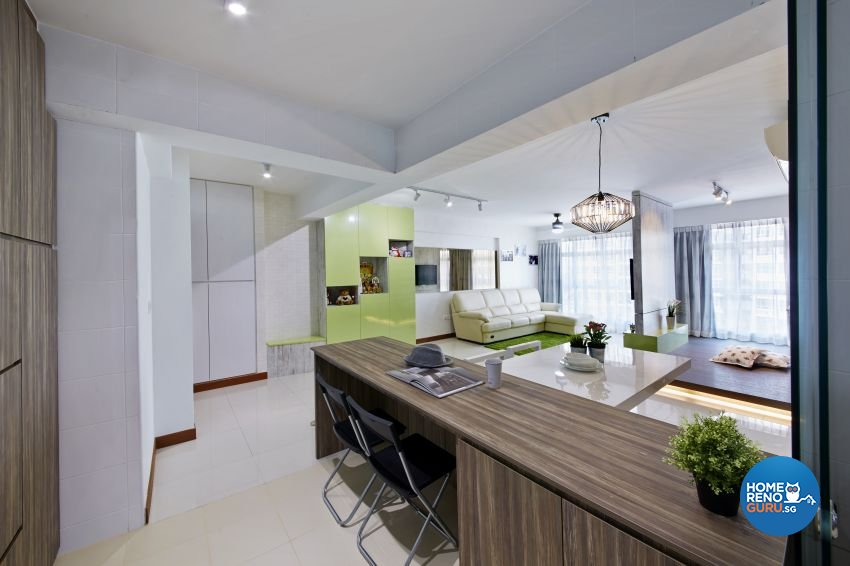 Tropical Design - Dining Room - HDB 5 Room - Design by I-chapter Pte Ltd