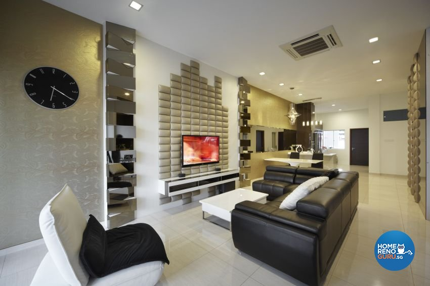 Modern Design - Living Room - Landed House - Design by I-chapter Pte Ltd