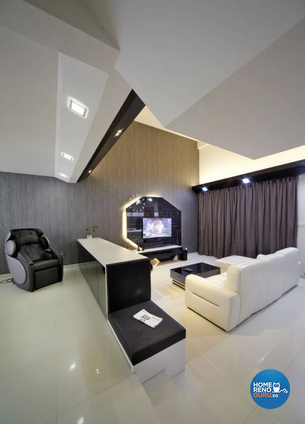 Modern Design - Living Room - Landed House - Design by I-chapter Pte Ltd