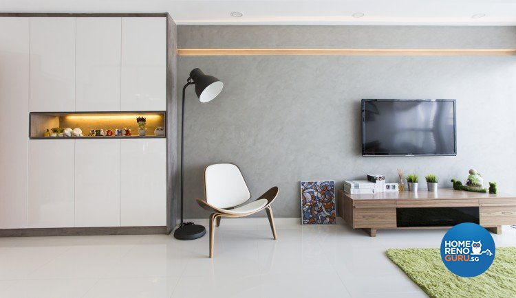 Modern, Scandinavian Design - Living Room - HDB 4 Room - Design by Icon Interior Design