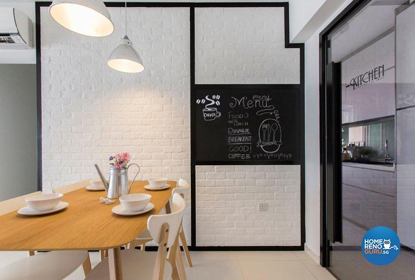 Industrial, Scandinavian Design - Dining Room - HDB 4 Room - Design by Icon Interior Design