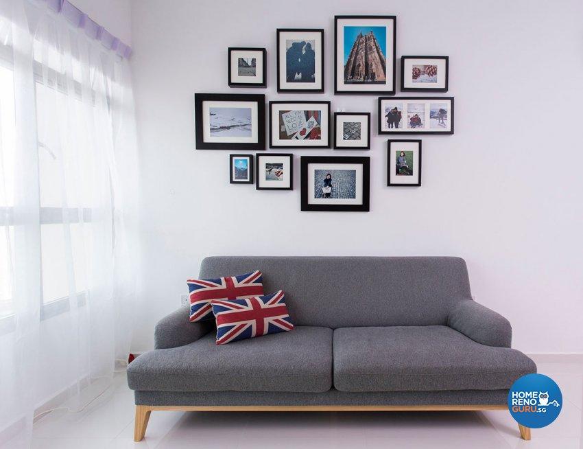 Industrial, Scandinavian Design - Living Room - HDB 4 Room - Design by Icon Interior Design