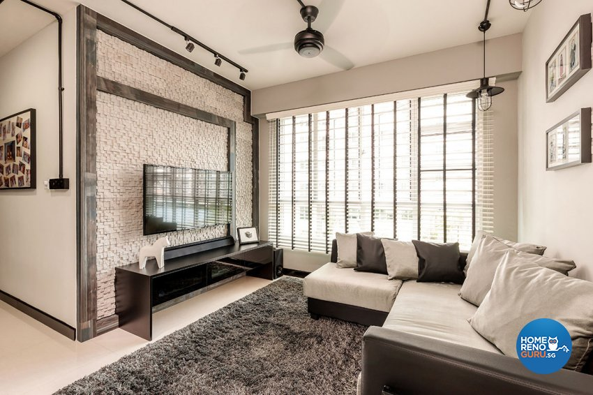 Contemporary Design - Living Room - HDB 4 Room - Design by Icon Interior Design