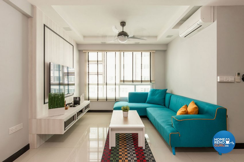 Modern, Scandinavian Design - Living Room - HDB 4 Room - Design by Icon Interior Design
