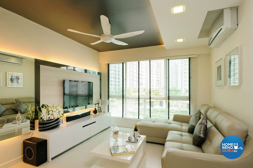 Contemporary, Modern Design - Living Room - HDB 4 Room - Design by Icon Interior Design