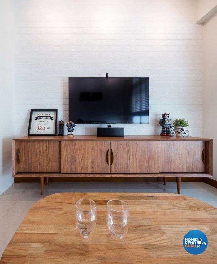 Retro, Scandinavian Design - Living Room - HDB 4 Room - Design by Icon Interior Design