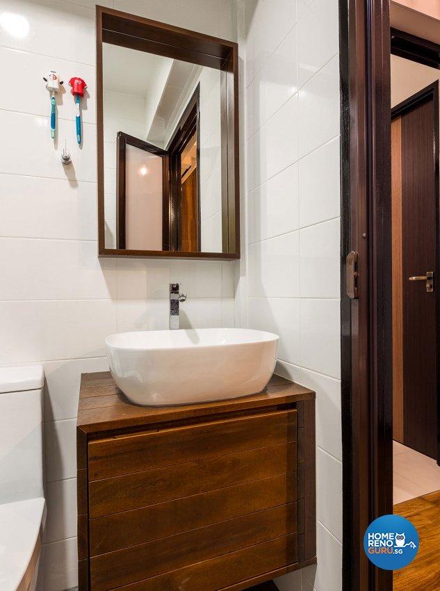 Retro, Scandinavian Design - Bathroom - HDB 4 Room - Design by Icon Interior Design