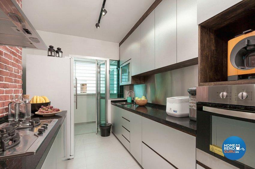 Industrial Design - Kitchen - HDB 4 Room - Design by Icon Interior Design