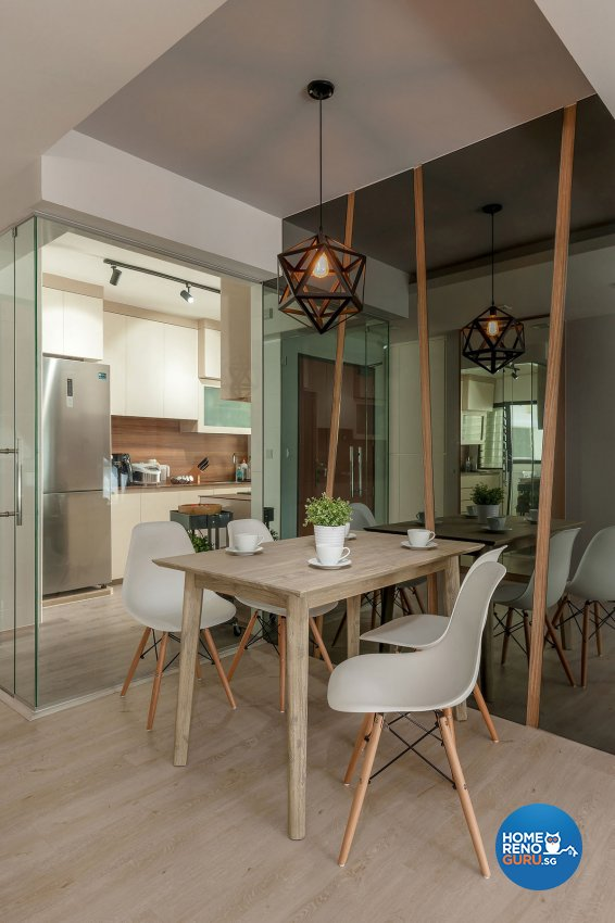 Contemporary Design - Dining Room - HDB 4 Room - Design by Icon Interior Design