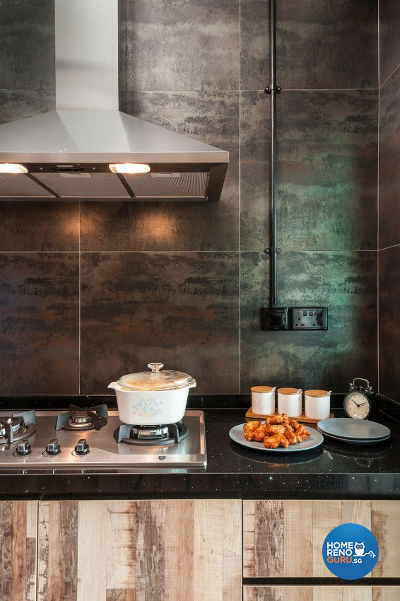 Industrial, Scandinavian Design - Kitchen - HDB 4 Room - Design by Icon Interior Design