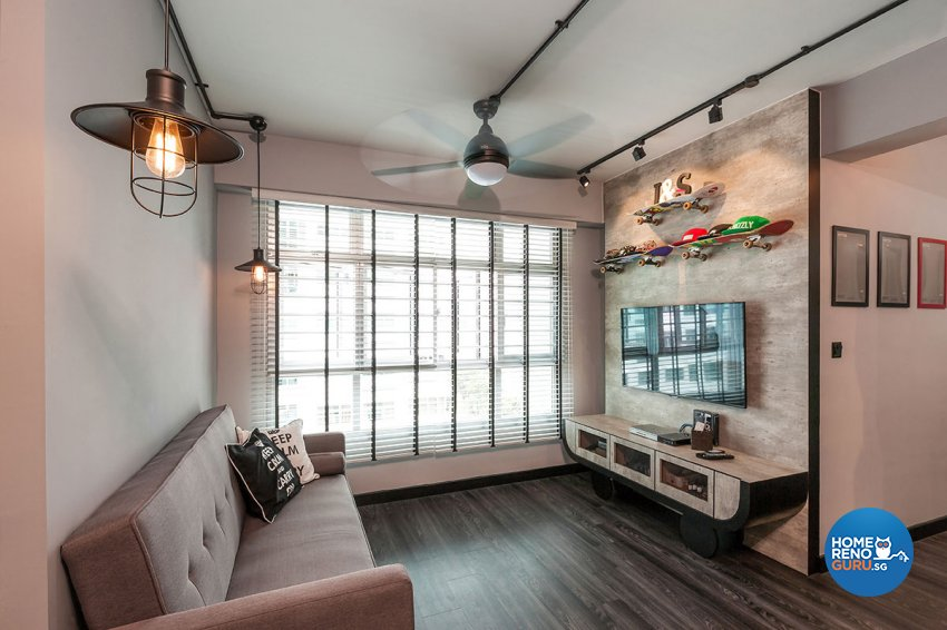 Industrial, Scandinavian Design - Living Room - HDB 4 Room - Design by Icon Interior Design