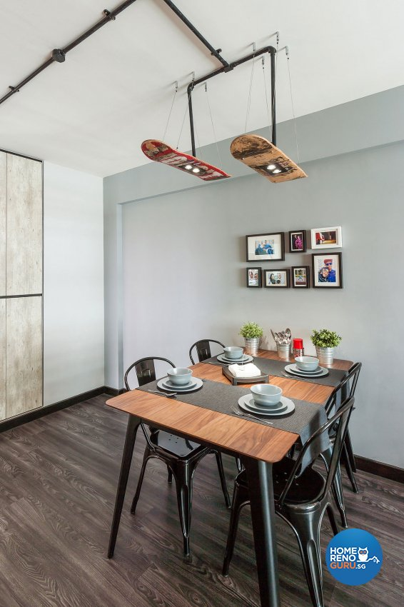 Industrial, Scandinavian Design - Dining Room - HDB 4 Room - Design by Icon Interior Design