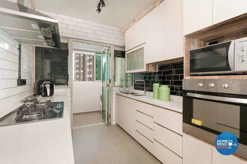 Contemporary, Scandinavian Design - Kitchen - HDB 4 Room - Design by Icon Interior Design