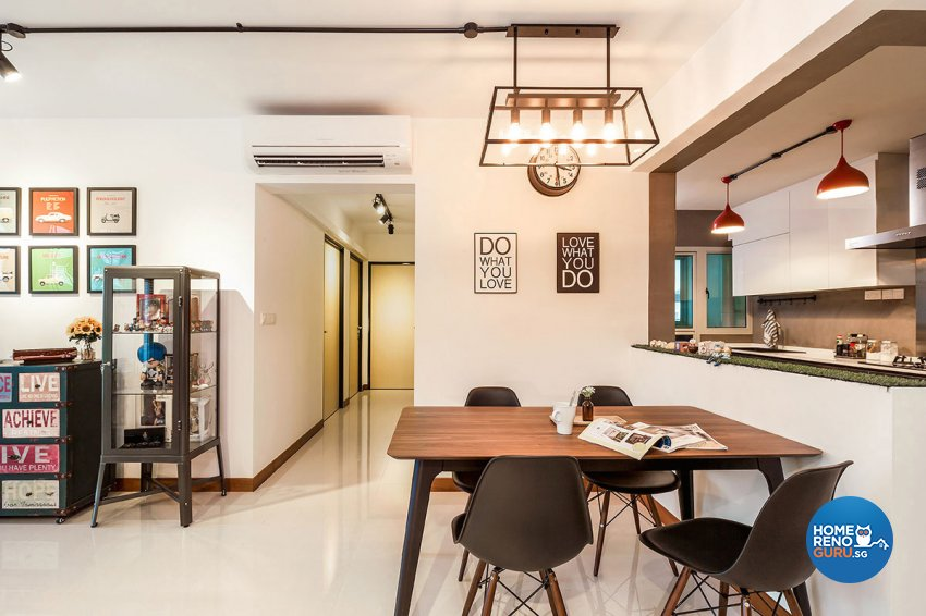 Industrial, Scandinavian Design - Dining Room - HDB 5 Room - Design by Icon Interior Design