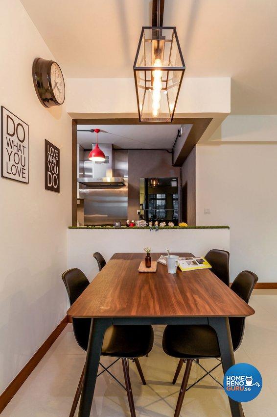 Industrial, Scandinavian Design - Dining Room - HDB 5 Room - Design by Icon Interior Design