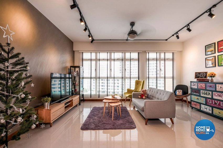 Industrial, Scandinavian Design - Living Room - HDB 5 Room - Design by Icon Interior Design