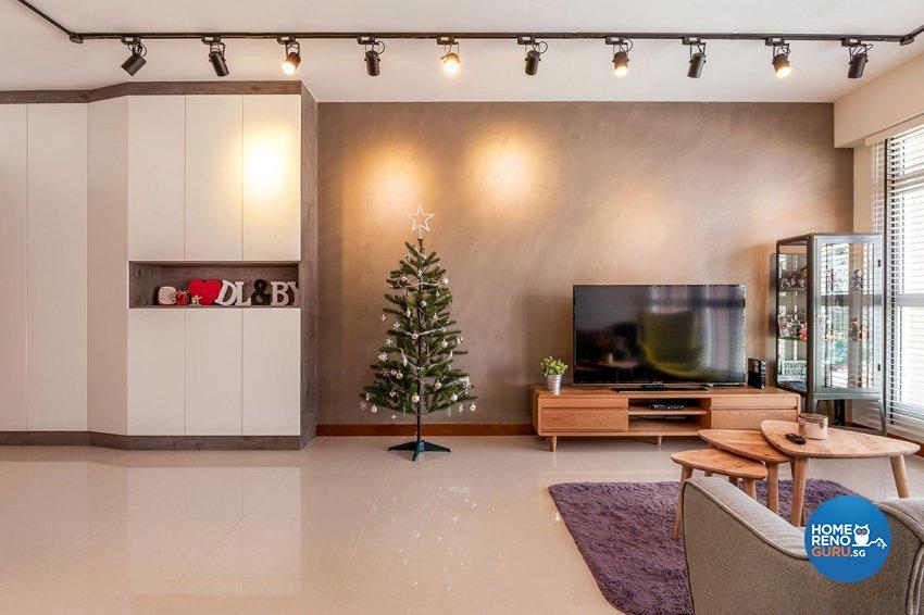 Industrial, Scandinavian Design - Living Room - HDB 5 Room - Design by Icon Interior Design