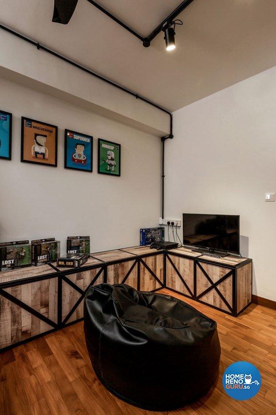 Industrial, Scandinavian Design - Study Room - HDB 5 Room - Design by Icon Interior Design