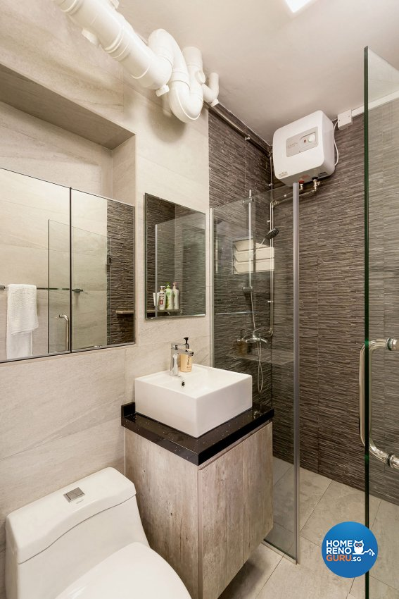 Industrial Design - Bathroom - HDB 4 Room - Design by Icon Interior Design