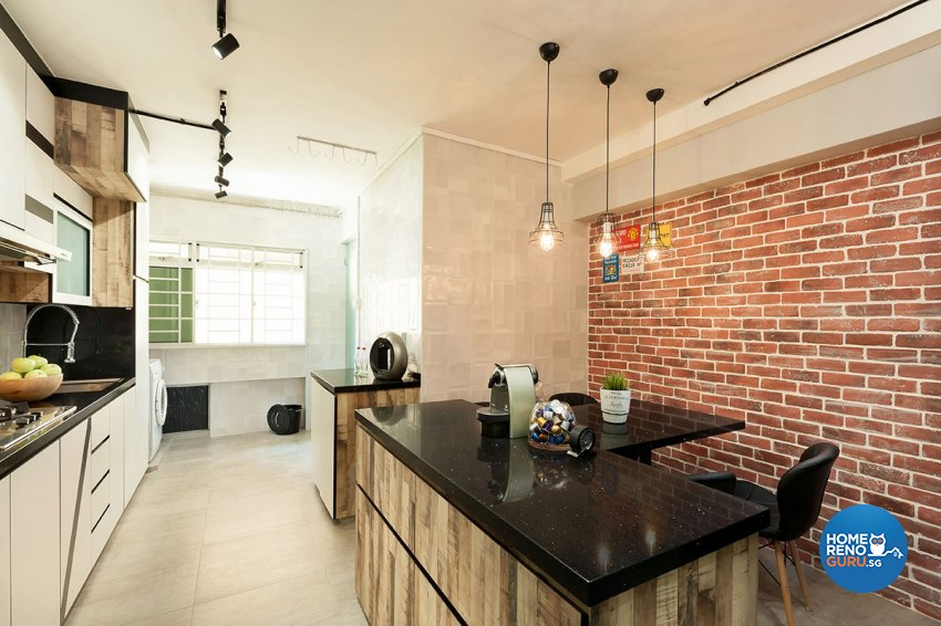 Industrial Design - Kitchen - HDB 4 Room - Design by Icon Interior Design