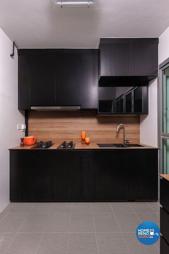 Contemporary Design - Kitchen - HDB 4 Room - Design by Icon Interior Design