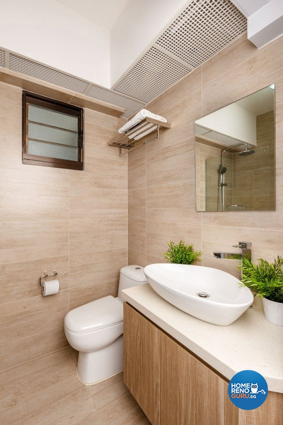 Industrial, Scandinavian Design - Bathroom - HDB 4 Room - Design by Icon Interior Design