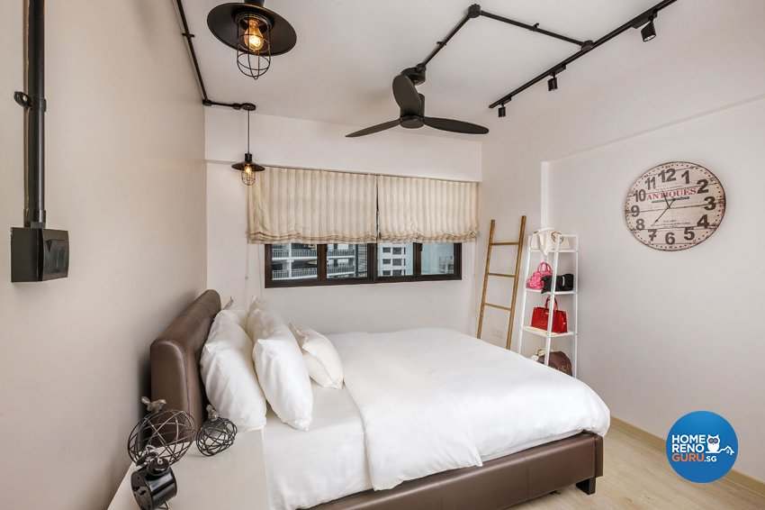 Industrial, Scandinavian Design - Bedroom - HDB 4 Room - Design by Icon Interior Design