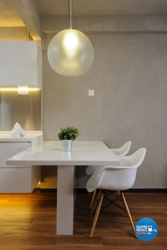Industrial, Minimalist Design - Dining Room - HDB 3 Room - Design by Icon Interior Design