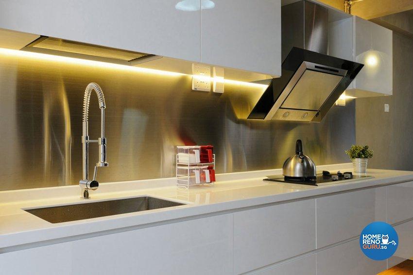 Industrial, Minimalist Design - Kitchen - HDB 3 Room - Design by Icon Interior Design