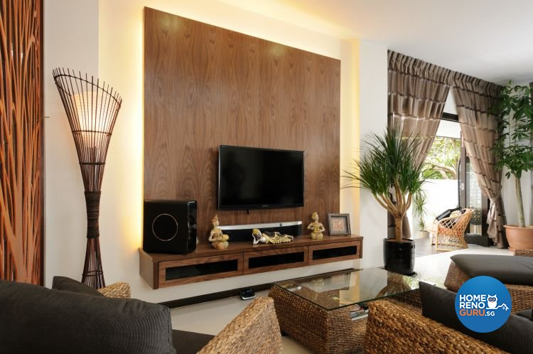 Contemporary Design - Living Room - Landed House - Design by Icon Interior Design