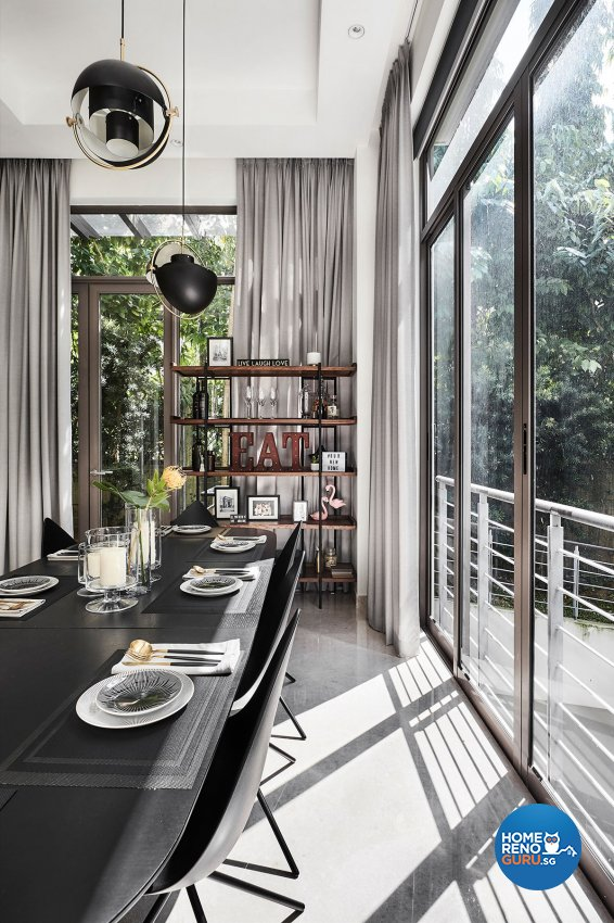 Contemporary, Modern, Resort Design - Dining Room - Landed House - Design by Icon Interior Design