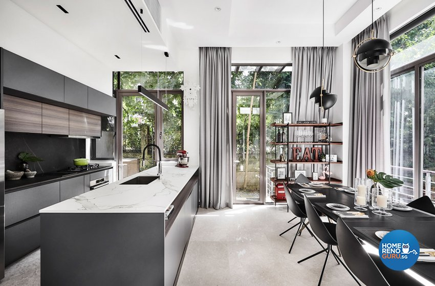 Contemporary, Modern, Resort Design - Dining Room - Landed House - Design by Icon Interior Design