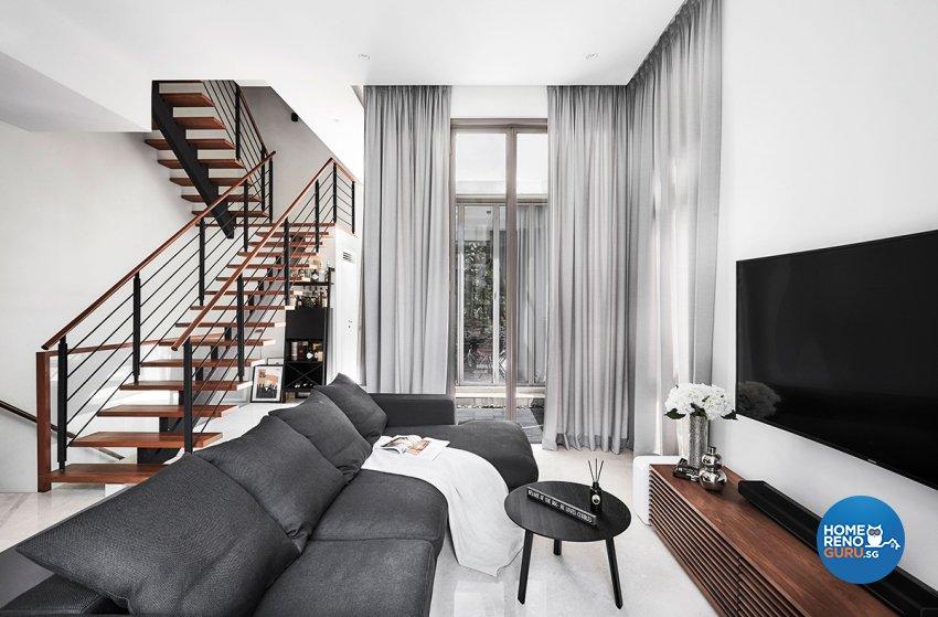 Contemporary, Modern, Resort Design - Living Room - Landed House - Design by Icon Interior Design
