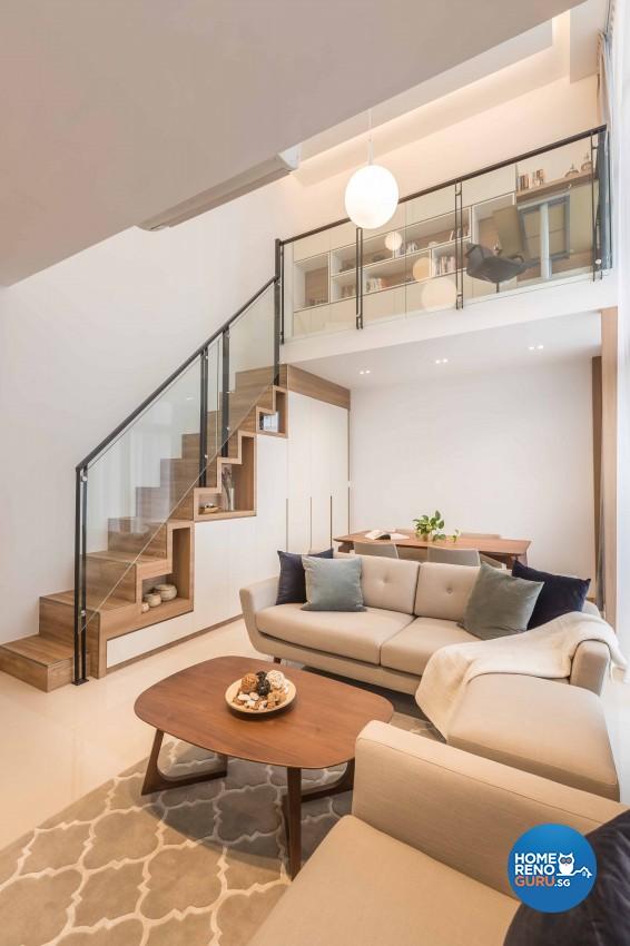 Scandinavian Design - Living Room - Condominium - Design by Icon Interior Design
