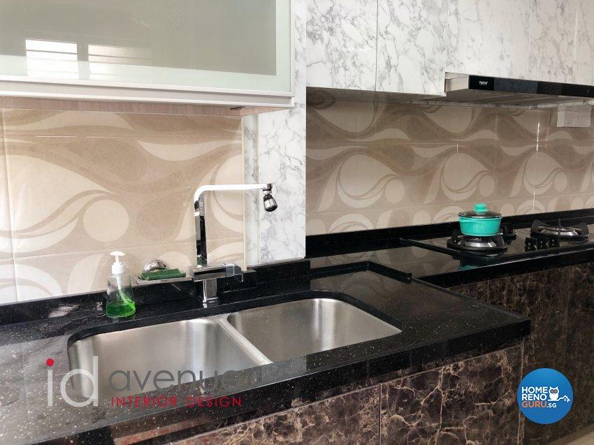 Contemporary, Modern Design - Kitchen - HDB 4 Room - Design by ID Avenue Pte Ltd (Interior Design Avenue)