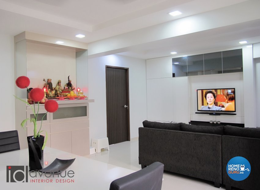 Contemporary, Modern Design - Living Room - HDB 4 Room - Design by ID Avenue Pte Ltd (Interior Design Avenue)